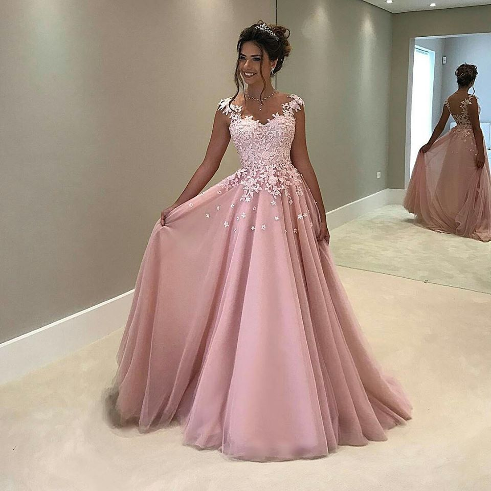 Rose Pink Formal Party Dress,Lace Evening Dress,Sexy Open Back Lace ...
