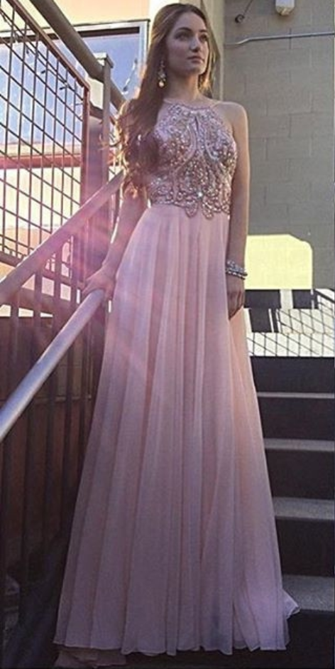Chiffon Beaded Prom Dresses, Formal Dresses, Graduation Party ...
