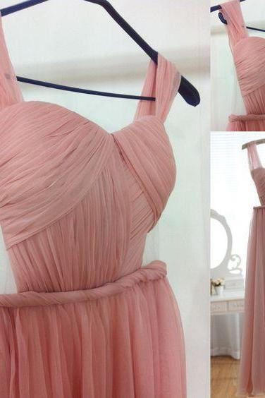 Sexy Open Back Prom Dress,Fashion Sexy Blush Pink Evening Dress